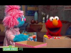 GRIEF: Elmo's cousin Jessie shows Elmo her memory box, a place she keeps things that remind her of her dad.  Making a memory box like Jessie's is a great activity for children coping with the death of someone special.