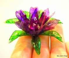 Flower, made of Plastic Water Bottles