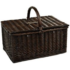 Picnic at Ascot Surrey Picnic Basket For 2 W/blanket & Coffee Set... ($140) ❤ liked on Polyvore featuring home, kitchen & dining, food storage containers, sporting goods, picnic at ascot, wicker picnic basket and wicker picnic hamper