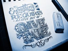 Give & Take by Jason Carne #lettering