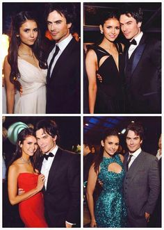 Ian and Nina at award shows. They are basically perfect. Ian needs to smile with his teeth!!