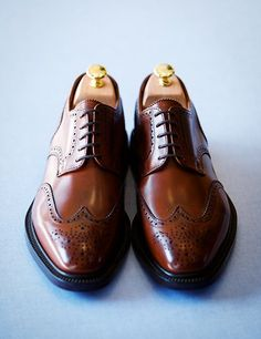 Autumn Brown Wingtips by Sid Mashburn. Good shoes are so important for a man