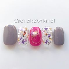 ハンドメイドマーケット+minne(ミンネ)|+AW押し花ネイルチップ♡ Glam Nails, Manicure And Pedicure, Beauty Nails, Cute Nails, Pretty Nails, Best Nail Art Designs, Nail Polish Designs, Kawaii Nails, Nail Art Kit