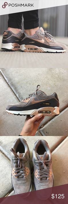Women's Nike Air Max 90 Bronze Brand new with the box but no lid. Sold Out Shoe Nike Shoes Athletic Shoes