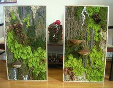 Moss / Lichens Wall Art Source by Moss Wall Art, Moss Art, Plant Painting, Plant Art, Art Mural Vert, Graffiti En Mousse, Plantas Bonsai, Decoration Plante, Green Decoration