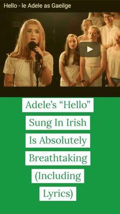 "Adele& ""Hello"" Sung In Irish Is Absolutely Breathtaking(Including Lyrics), Music Songs, Music Videos, Zumba Videos, Music Quotes, Funny Videos, Irish Songs, Adele Songs, Adele Quotes, Musica"