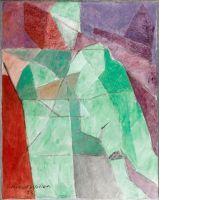¤ Jacques VILLON 1875 - 1963 L'HOMME ASSIS - 1958 Huile sur toile