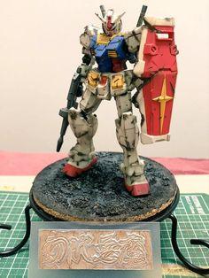 Custom Gundam, Gundam Model, Mobile Suit, Diorama, Robot, Anime Art, Models, Manga, Inspiration