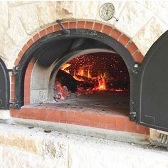 One of our biggest ovens, the 1400 B  #1400B, #breadstoneovens, #brickoven, #pizzaoven, #breadoven, #fire, #woodfired, #wood