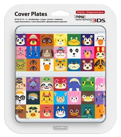 New Nintendo 3DS Cover Plates Animal Crossing