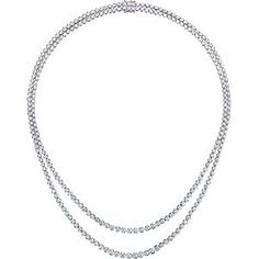 Double Row Diamond Necklace.  9.70 ctw.  18kt Whit Gold.  Costco.  $13699.99