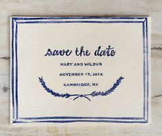 Custom Save the Date Rubber Stamp // by saintjohnstreetpress