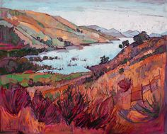 Winter Lavender - Contemporary Impressionism | Landscape Oil Paintings for Sale by Erin Hanson