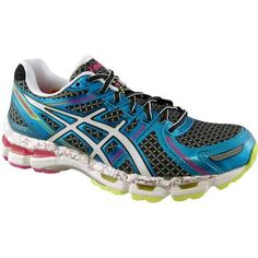 BEST DEAL Asics Gel Kayano 19 Womens Running Shoes Black Blue Flash Pink  Size 6d54488576e1