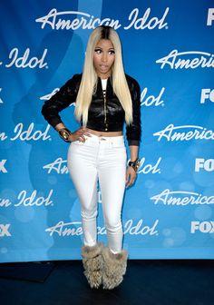 Nicki Minaj At The American Idol Season Finale