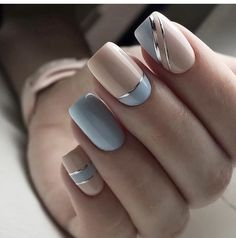 Nail Art Designs 💅 - Cute nails, Nail art designs and Pretty nails. Pretty Nail Art, Beautiful Nail Art, Gorgeous Nails, Elegant Nail Art, Elegant Nail Designs, Amazing Nails, Cute Spring Nails, Summer Nails, Summer Nail Art