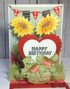 Hello~  Today's card is a pop up card that I made for a very dear friend who is celebrating her birthday today...  Can you guess who it is?...