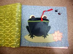 Quiet Book - frog with zipper mouth