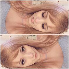 Wella honey beige blonde mixed with Wella titan red.