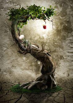 Skeleton art by Yvan Feusi Fantasy Kunst, Fantasy Art, Skeleton Art, Modelos 3d, Gothic Art, Skull Art, Tree Art, Photo Manipulation, Watercolor Art