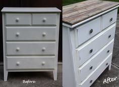 Target Dresser turned Vintage Treasure! Eaaaasy, cheap DIY furniture.