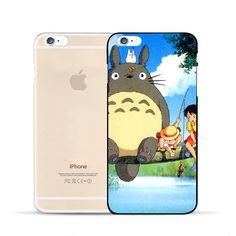 Totoro Ghibli Anime Mei Satsuki Fishing Cute Design Case for iPhone 6 7 S Plus  #Totoro #Ghibli #Anime #Mei #Satsuki# Fishing Cute Design #Case for #iPhone 6 7 S Plus