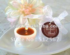 Le cadeau parfait LZ024 de Souvenir_Wedding Favor_Wedding de mariage de Mini-Bougie de tasse de café de mélange