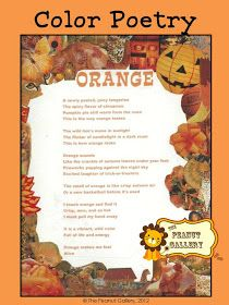 The Peanut Gallery: Cool colour poetry lesson ideas
