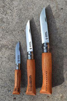 Wood burned Opinel Knife