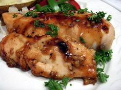 Ginger Me up Chicken! Low Fat Honey & Ginger Chicken Breasts