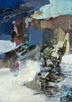 #11,  le temps des turbulences , mixed media on canvas ,130x89
