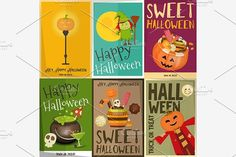 Halloween Posters Set by elfivetrov on @creativemarket