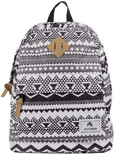 We adore the Black/White Skechers California Backpack. It also has the essential pocket to store our tablet - we would be lost without our tablet!