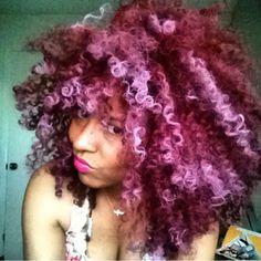 Pink Natural Hair