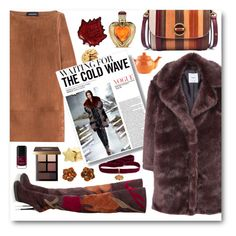 """""""If I had a Faux Fur Coat..."""" by pomy22 ❤ liked on Polyvore featuring Vanessa Seward, Price & Kensington, Diego Percossi Papi, Tory Burch, Burberry, MANGO, Two's Company, Victoria's Secret, Bobbi Brown Cosmetics and Yves Saint Laurent"""