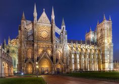 The Collegiate Church of St Peter at Westminster, popularly known as Westminster Abbey, is a large, mainly Gothic church, in the City of Westminster, London, United Kingdom, located just to the west of the Palace of Westminster.