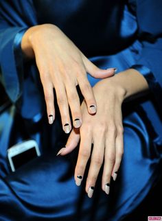 NYFW Fall 2013 Nail Trends - Celebuzz reverse 1940s manicure and army nudes!