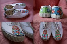 Hand-painted shoes by STAK  www.stakshop.it
