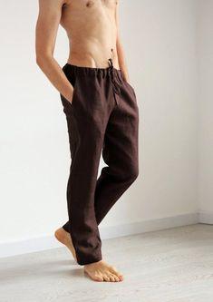 ZXFHZS Mens Casual Baggy Linen Lounge Harem Pants Beach Capri Pants