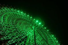 looks like a green ferris wheel