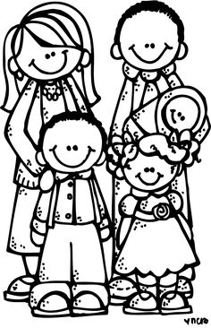 free lds clipart to color for primary children lds color pages rh pinterest com family members clipart black and white family clipart black and white free
