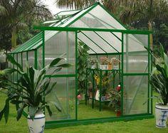Portas duplas 10mm uv twin - policarbonato parede hobby casa estufas kits 8' x 12'-imagem-Estufas de Jardim-ID do produto:525847664-portugue...