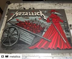 Metallica Gig Poster by Munk One