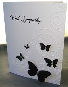 Sympathy Card  ....maybe using navy for butterflies