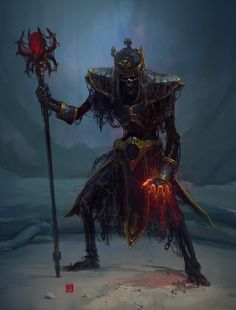 power lich homm III by soft-h undead skeleton zombie wizard warlock sorcerer king staff crown monster beast creature animal   Create your own roleplaying game material w/ RPG Bard: www.rpgbard.com   Writing inspiration for Dungeons and Dragons DND D&D Pathfinder PFRPG Warhammer 40k Star Wars Shadowrun Call of Cthulhu Lord of the Rings LoTR + d20 fantasy science fiction scifi horror design   Not Trusty Sword art: click artwork for source