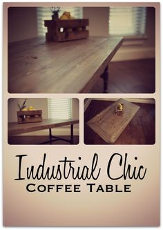This sleek, unique, industrial chic coffee table highlights your farmhouse furniture, industrial room design or even modern cottage interiors. I promise it will look great in your modern living room.