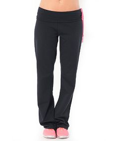 Look what I found on #zulily! Gunmetal & Pink Pep Rally Pants by Soffe #zulilyfinds