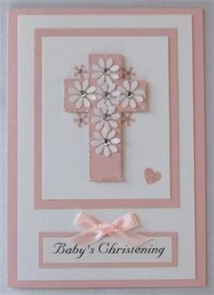 another baptism card idea Une idee de carte pour une communion Confirmation Cards, Baptism Cards, Handmade Christening Cards, First Communion Cards, Christian Cards, New Baby Cards, Beautiful Handmade Cards, Baby Shower Cards, Kids Cards