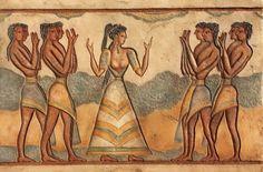 Obra de arte: Sacerdotisa cretense Artistas y arte. Artistas de la tierra