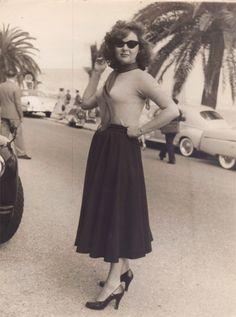 Susan Hayward, 1956, at Cannes Film Festival